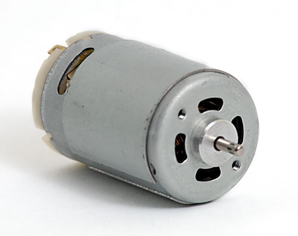 A DC motor draws the most current at 0 RPM.