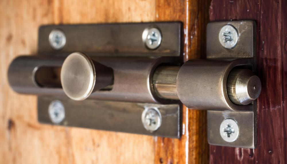 French doors might come with standard locks, but adding a deadbolt can greatly enhance security.