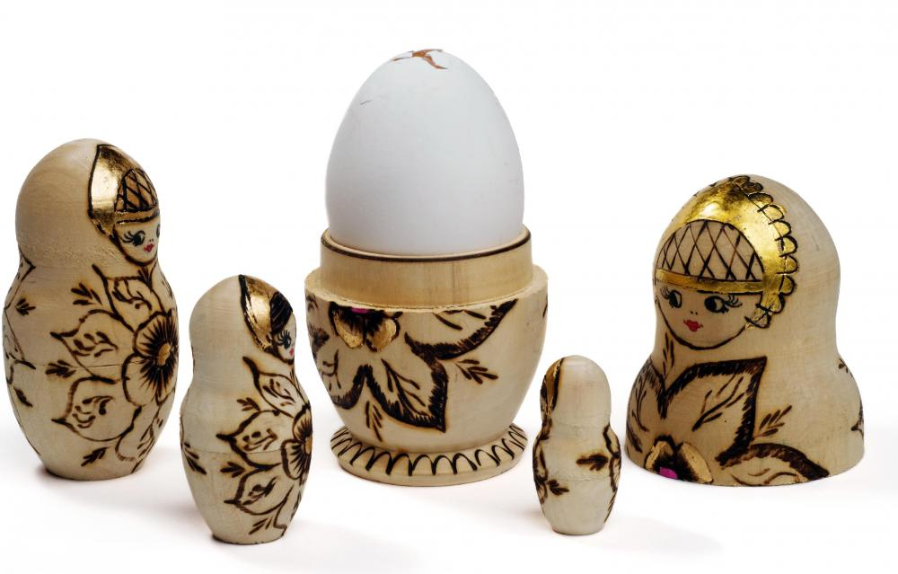 Matryoshka dolls are commonly known as Russian nesting dolls.