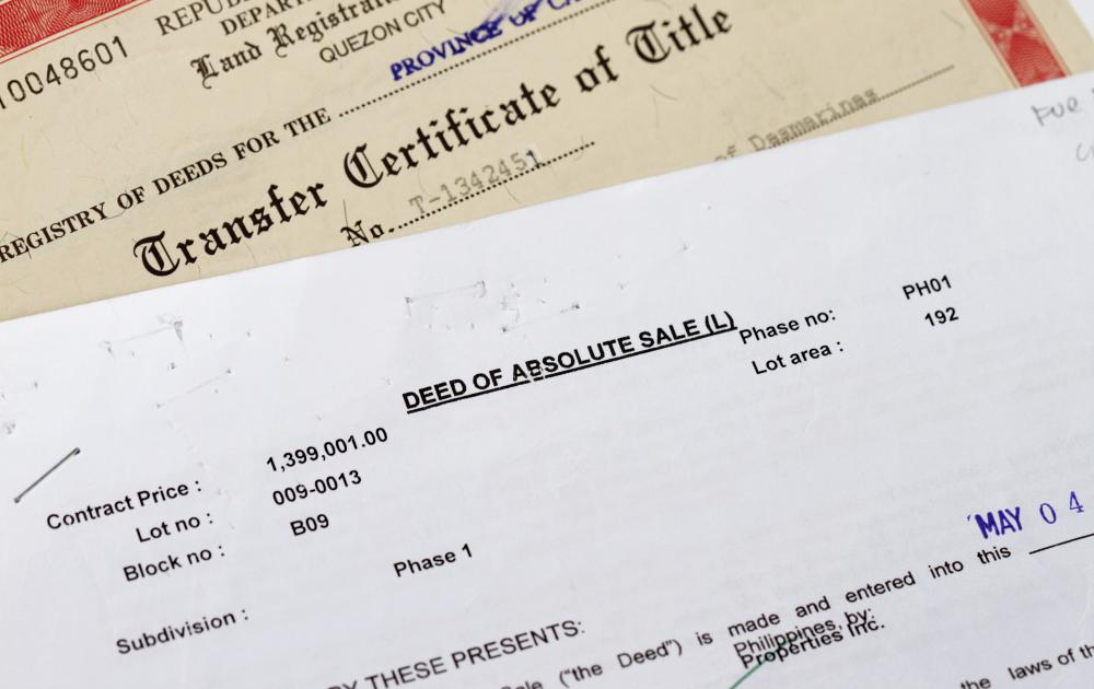 A deed of conveyance, also referred to as a deed, is a document that evidences ownership of real property.