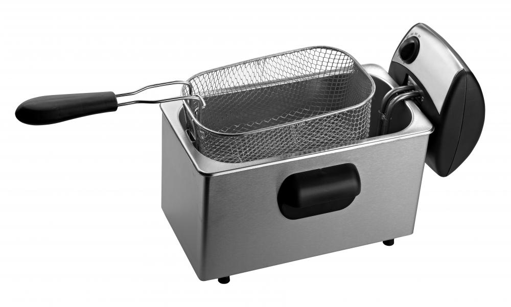 A deep fryer provides a relatively safe way to cook in hot oil.