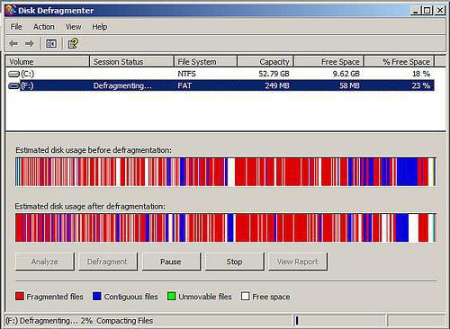 Routine disc defragmentation will help you maintain a healthy hard drive.