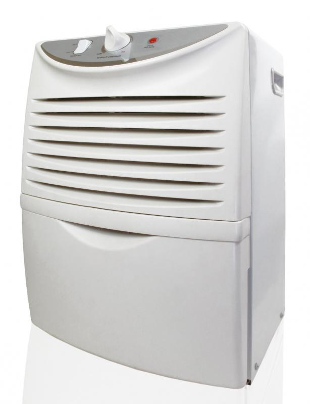 A dehumidifier may be used to reduce humidity and moisture in the air.