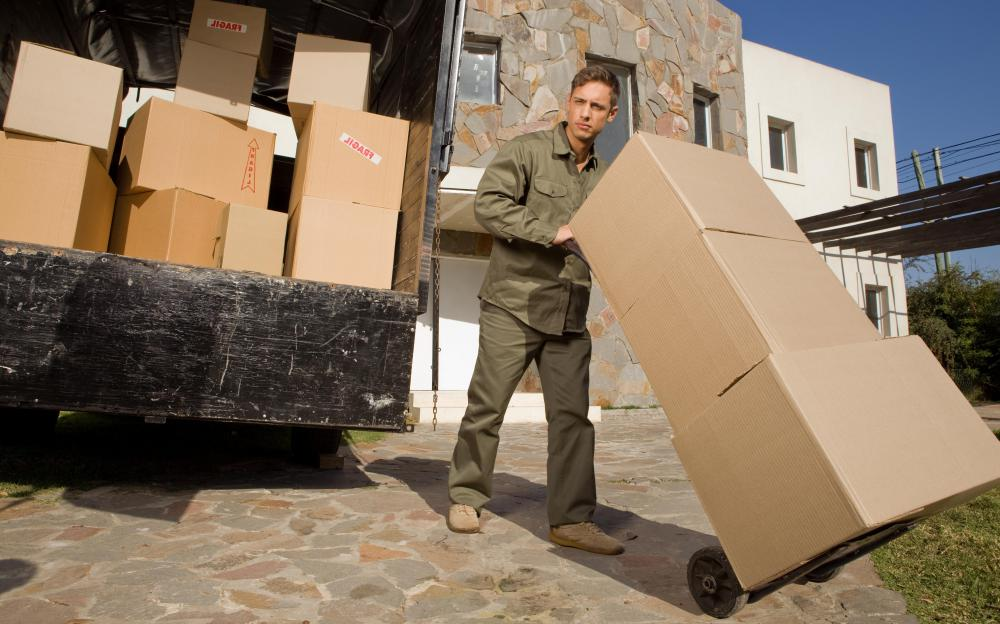 Some couriers specialize in transporting large parcels.