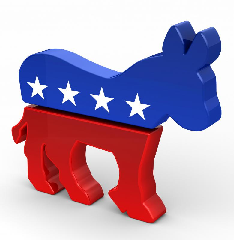 What are social programs and how do democratic and republican views of them differ?