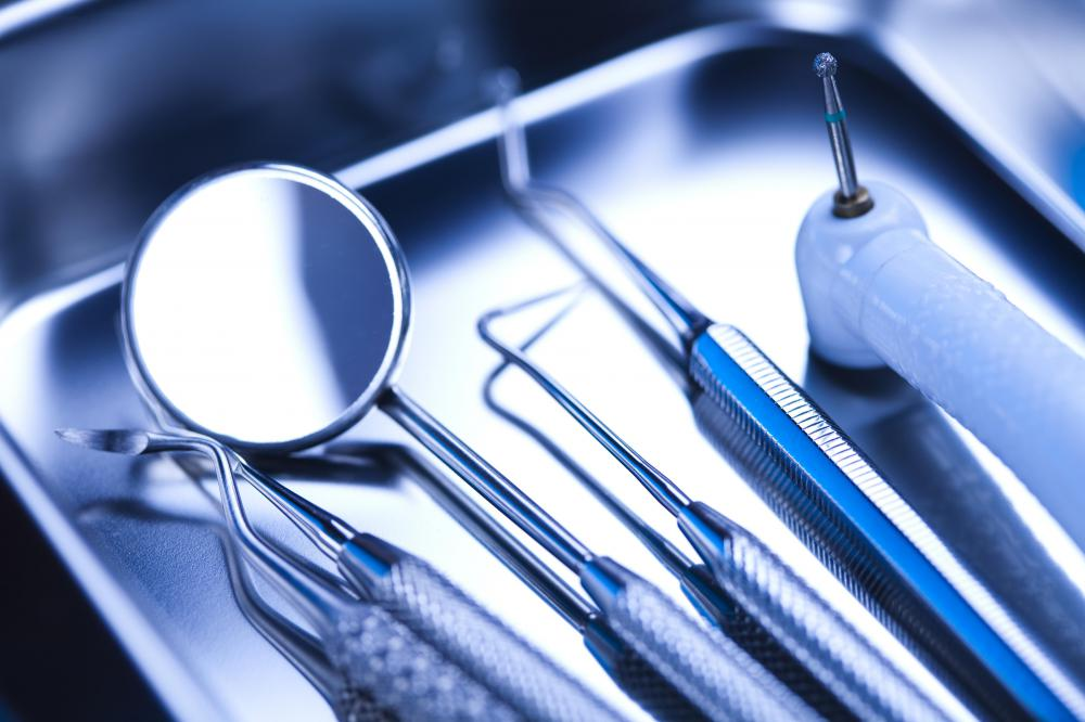 Dentists have specialized equipment that is designed to remove plaque and tartar from all around teeth.