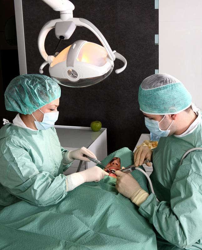 Surgery to place implants can only take place after the affected tissue has healed from regeneration.