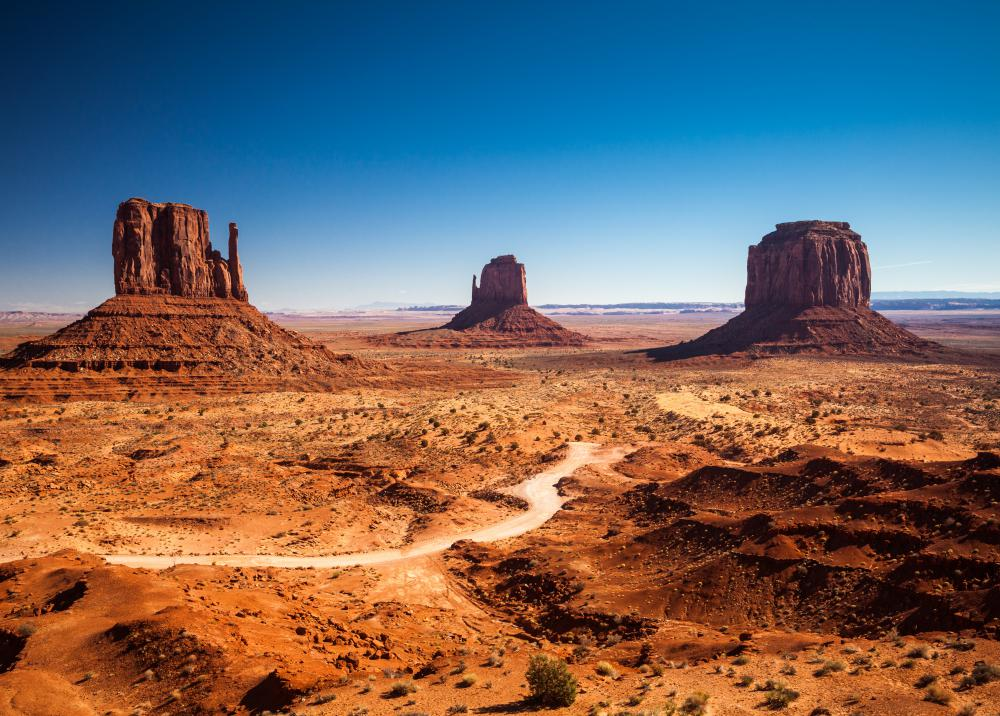 The Navajo Nation encompasses 24,000 square miles in Arizona, New Mexico, and Utah.