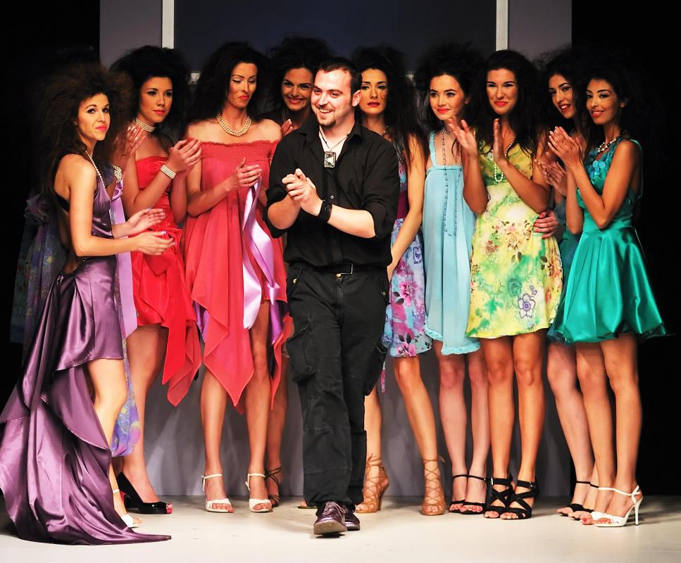A runway model may attend a variety of fashion shows in a single week.