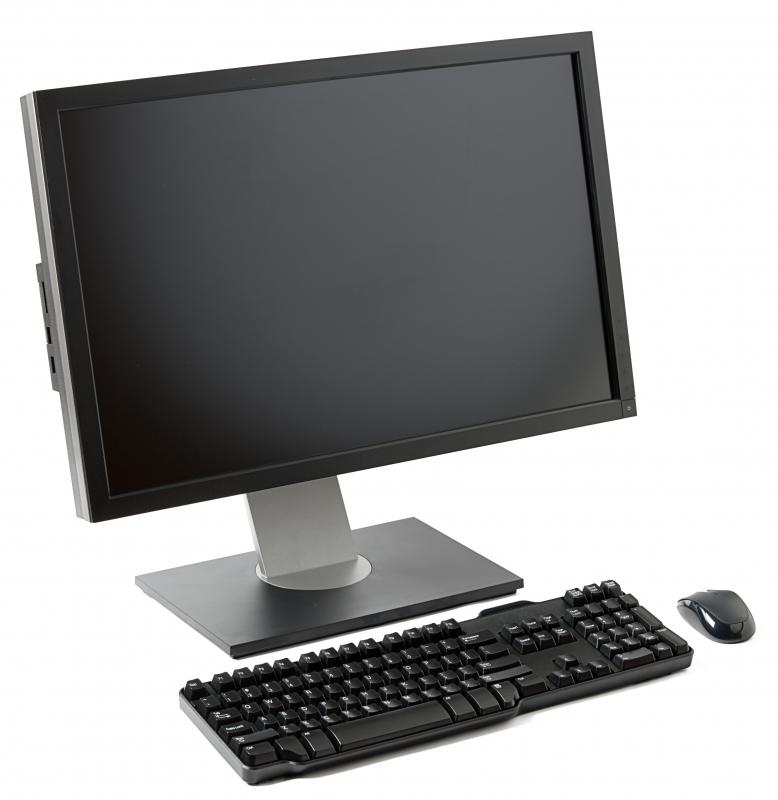 Computer monitor mouse and keyboard