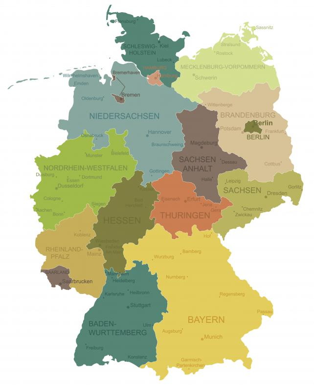 Modern Germany is composed of sixteen federal states.