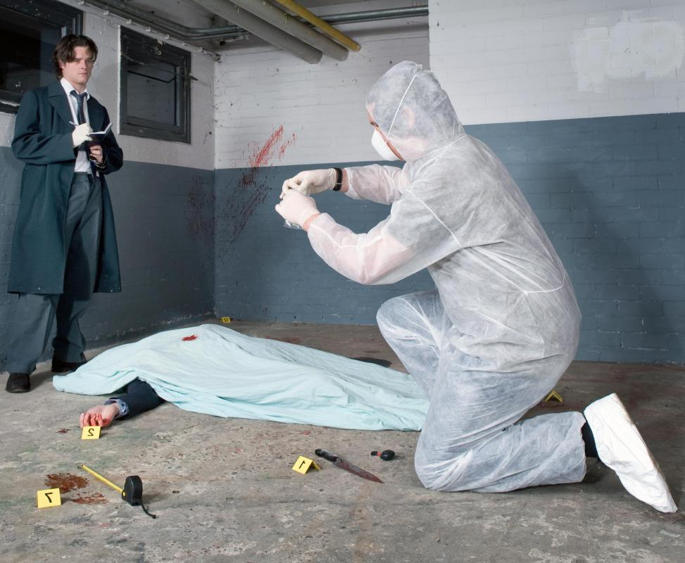 A crime scene examiner, or crime scene investigator, examines a crime scene and gathers evidence.