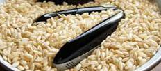 Cell phones that have been in water should be placed in a bowl of rice, which will absorb water from the phone.