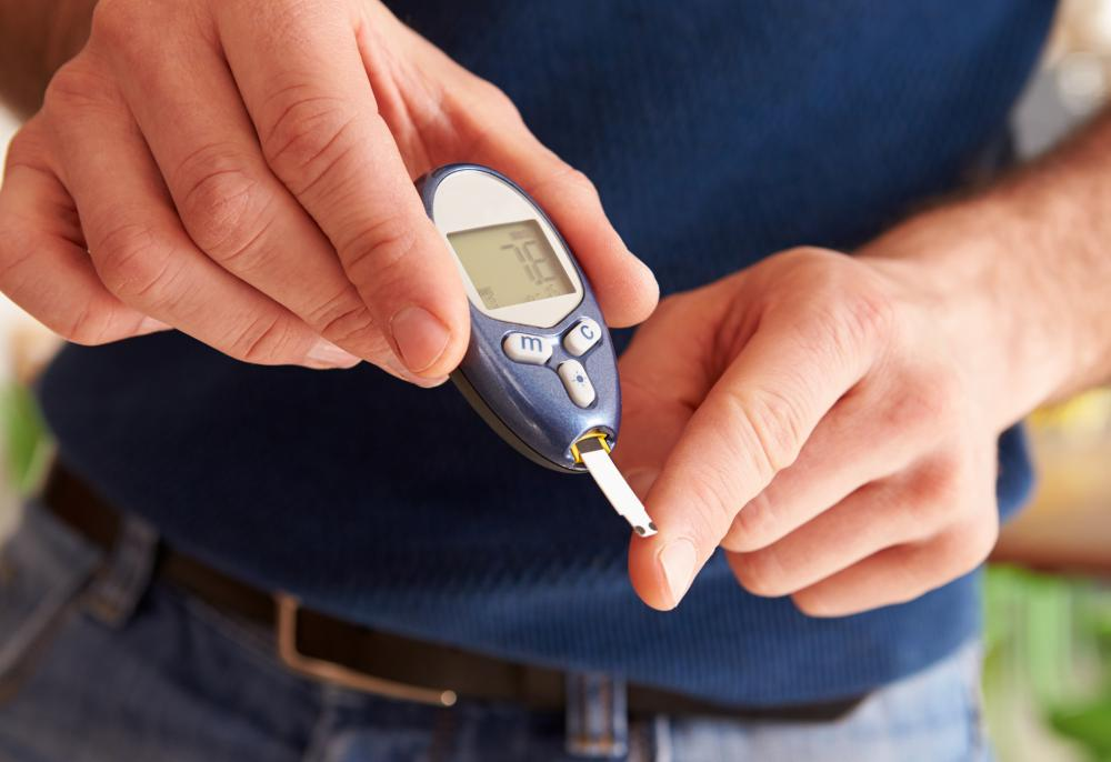 Low concentration of urine may indicate diabetes.