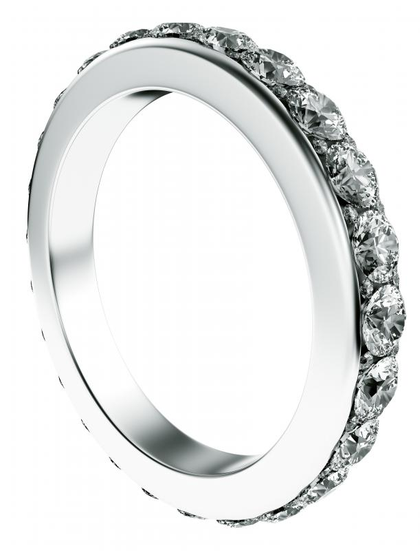 A ring with many diamonds might be considered bling.