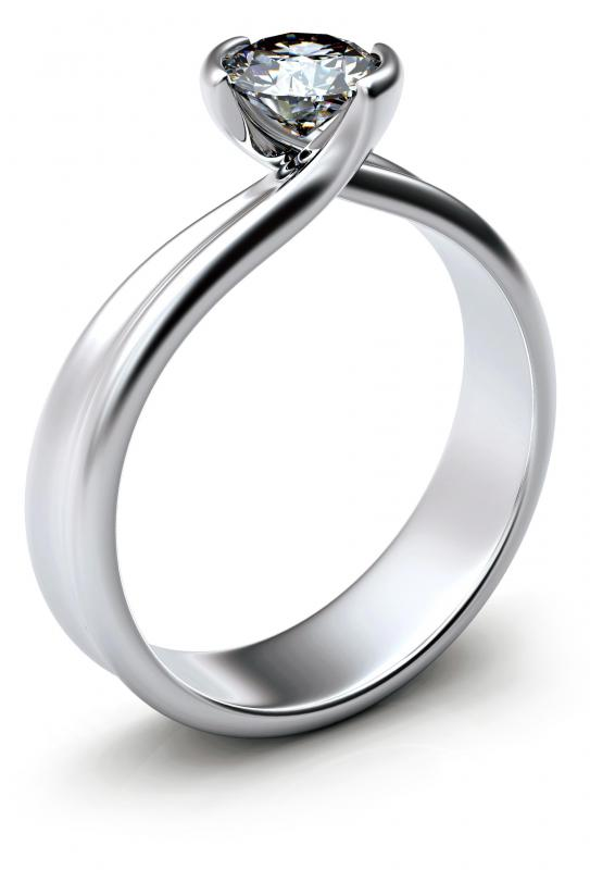 A diamond ring made with a wholesale diamond.