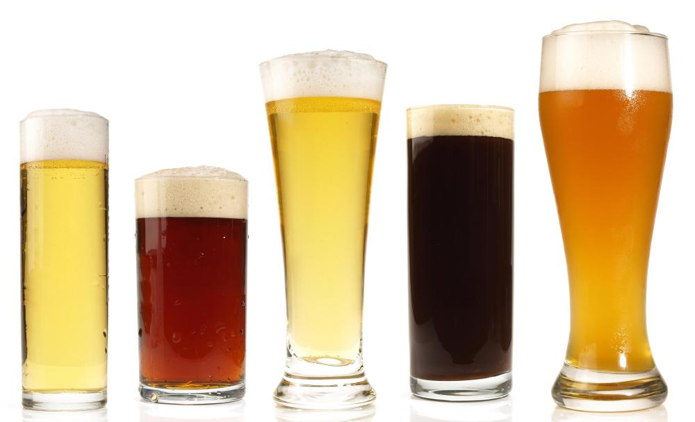 Different types of beer.