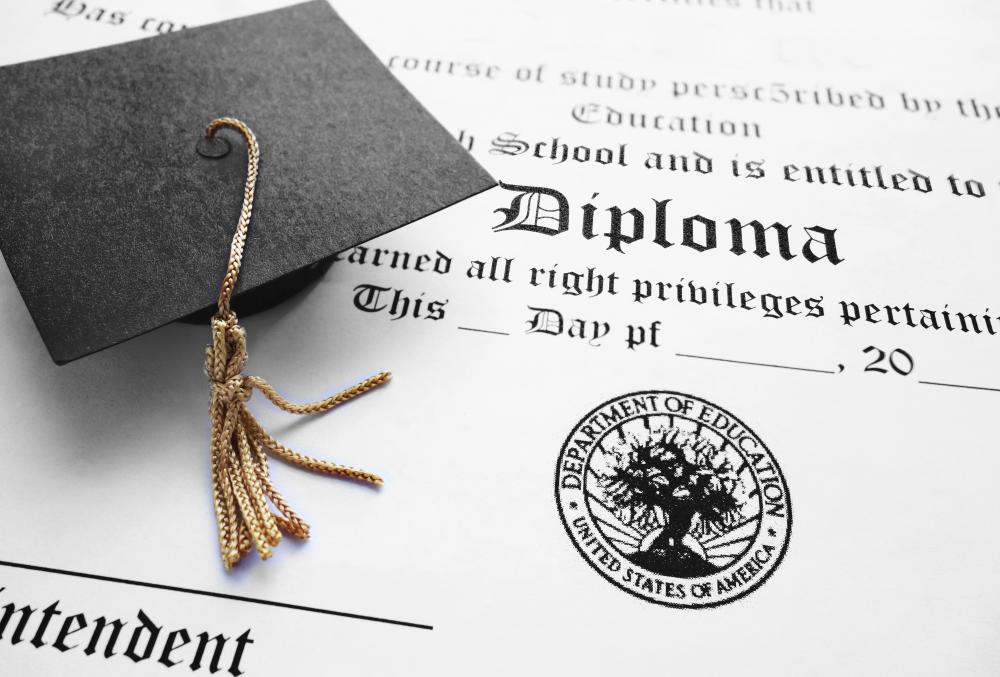 Adult education offers the opportunity for people to get their high school diplomas.