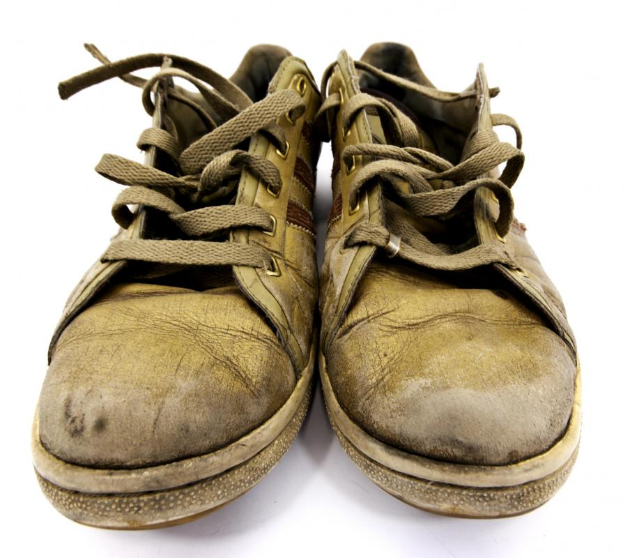 Dirty shoes can grind dirt into carpet fibers.