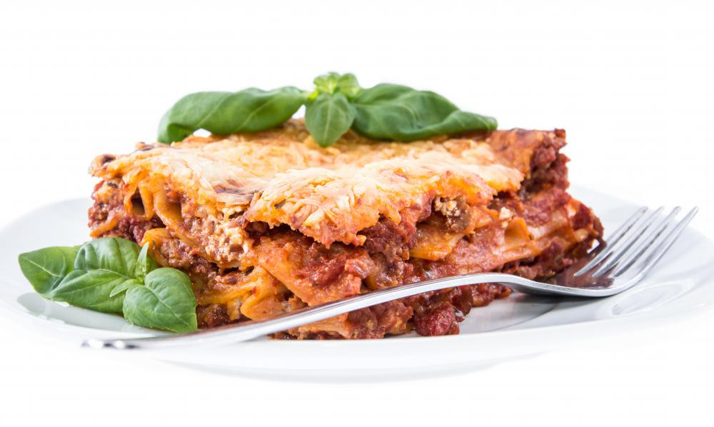 Lasagna is always a good crowd pleaser.