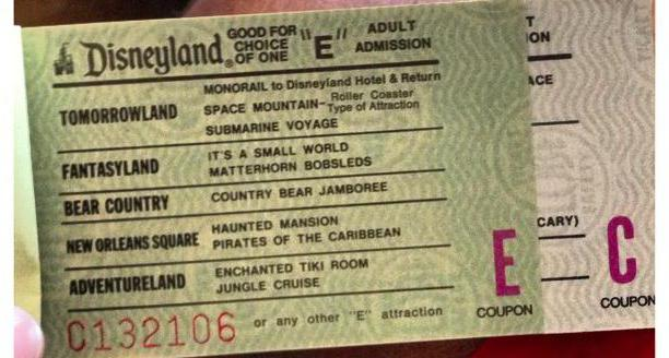 the best rides in the disneyland theme park were reserved for e tickets