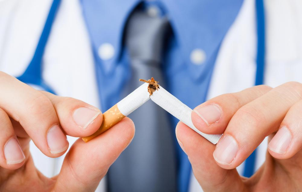 Quitting smoking might help eliminate halitosis.