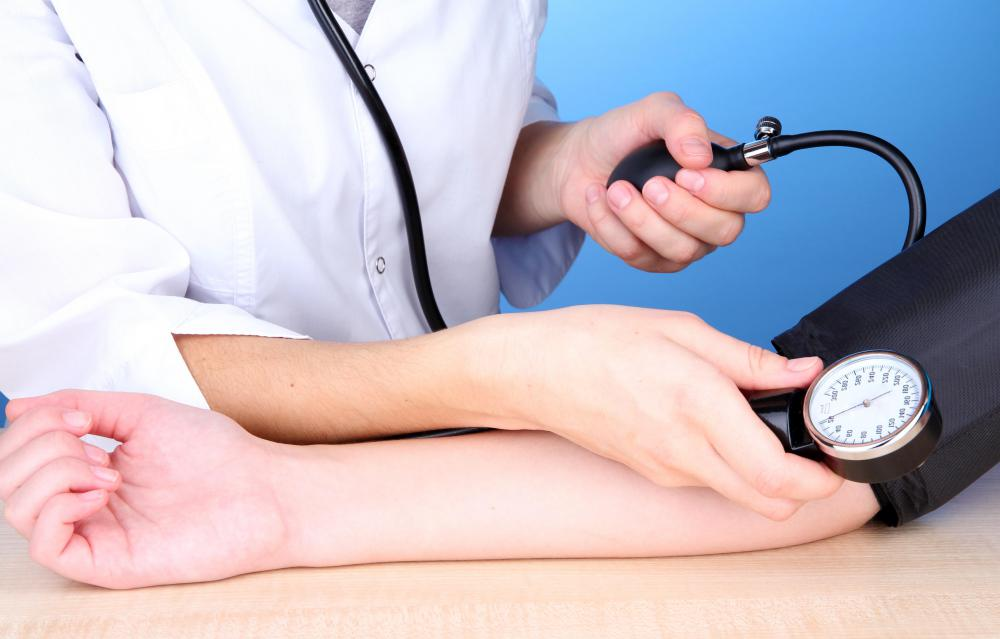 An LVN may be responsible for taking a patient's blood pressure.
