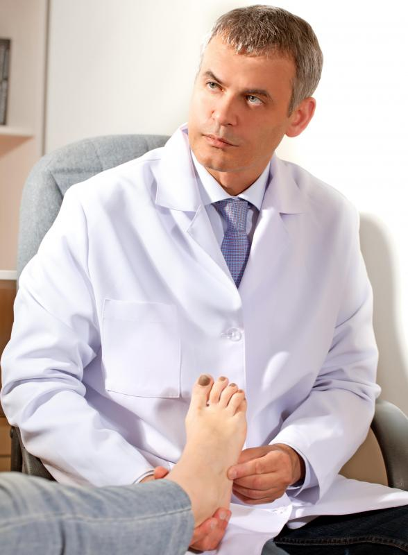 Insoles may be prescribed by a podiatrist to promote proper body alignment.