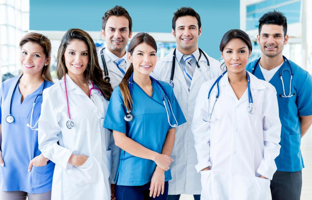 Nurses, doctors and administrators are among common health industry jobs.