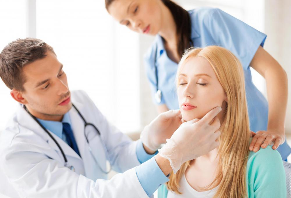 In stage four throat cancer, cancerous cells could spread to the lymph nodes in the neck.