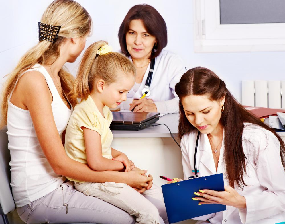Doctors at a primary care clinic may be internists, family doctors, or pediatricians.