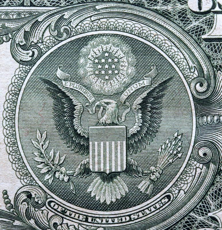 Some say an eagle kept at the first US Mint was the inspiration for the symbol used on money.