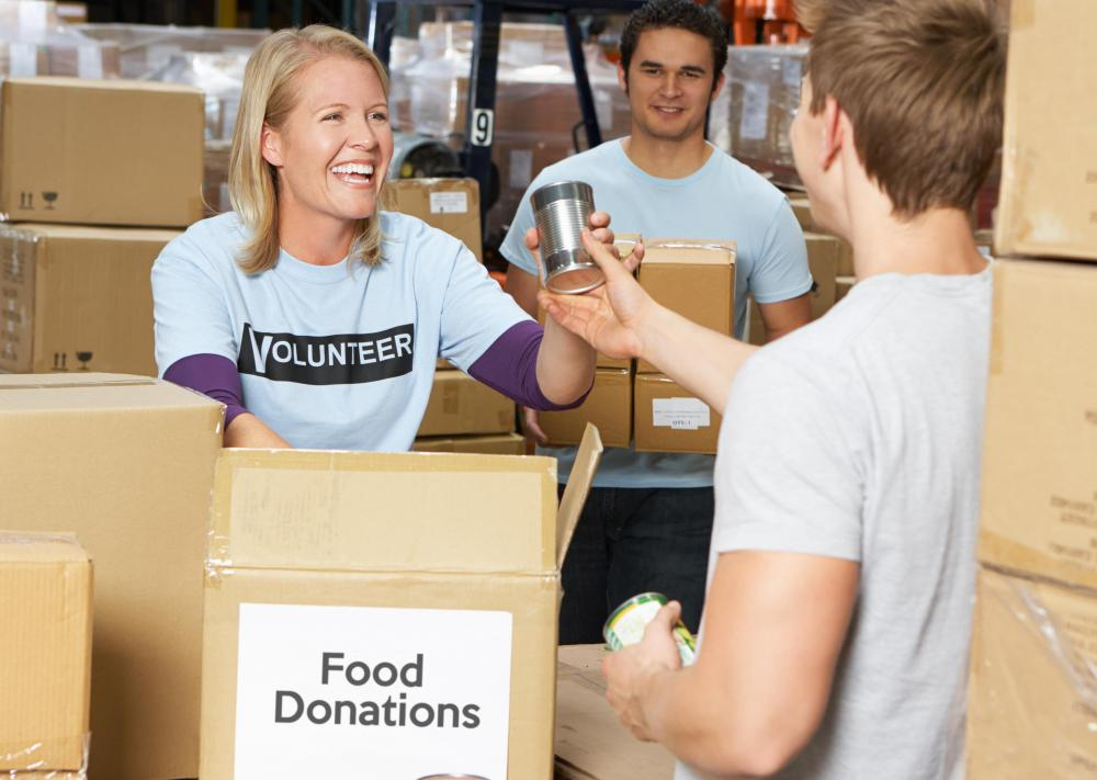 Donating goods, like food, can help alleviate the pressures of donor fatigue.