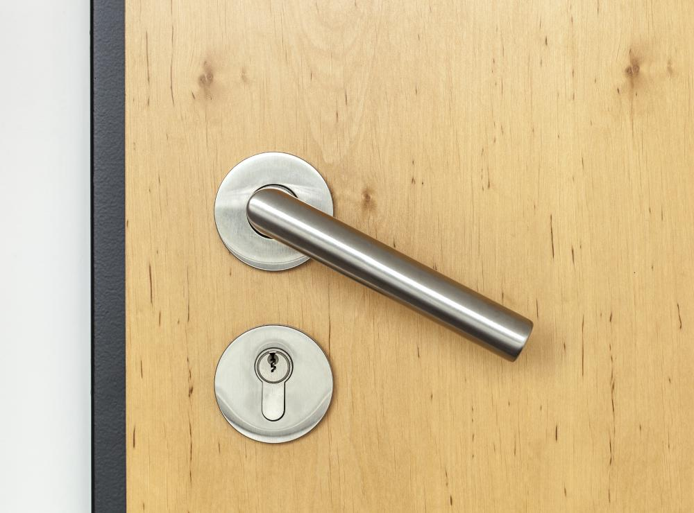 Locks are the most common type of door security.