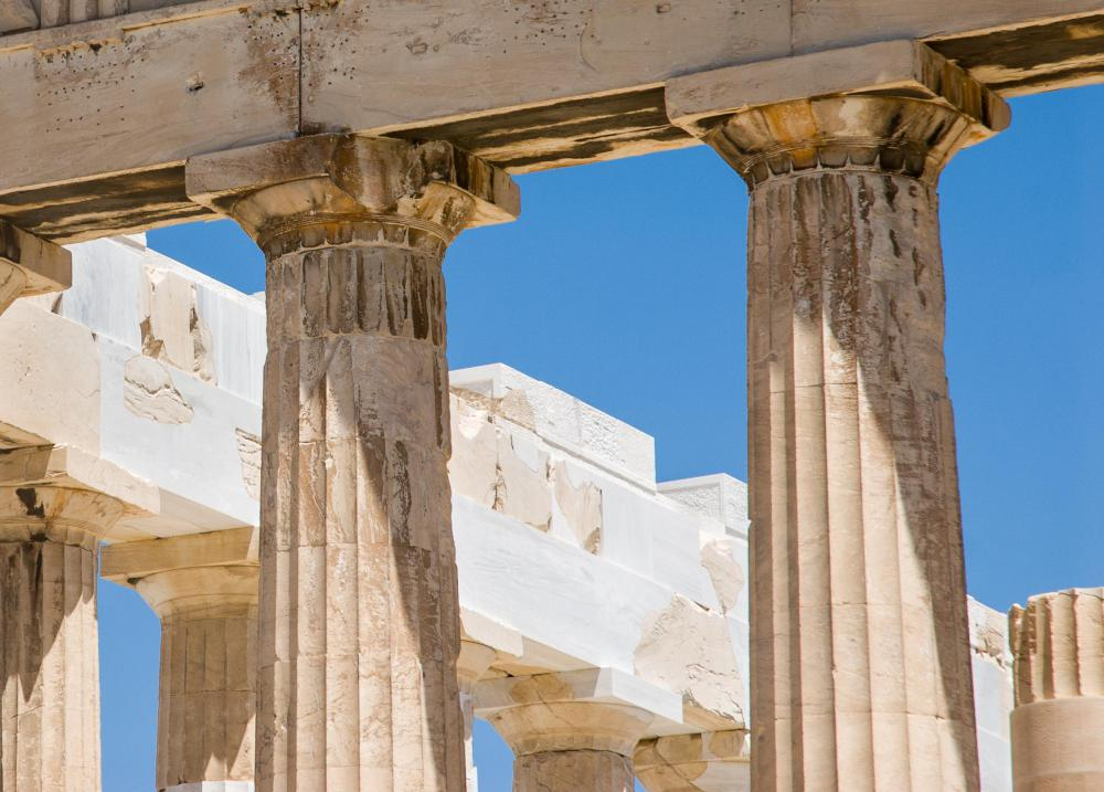 in architecture what are the different types of column