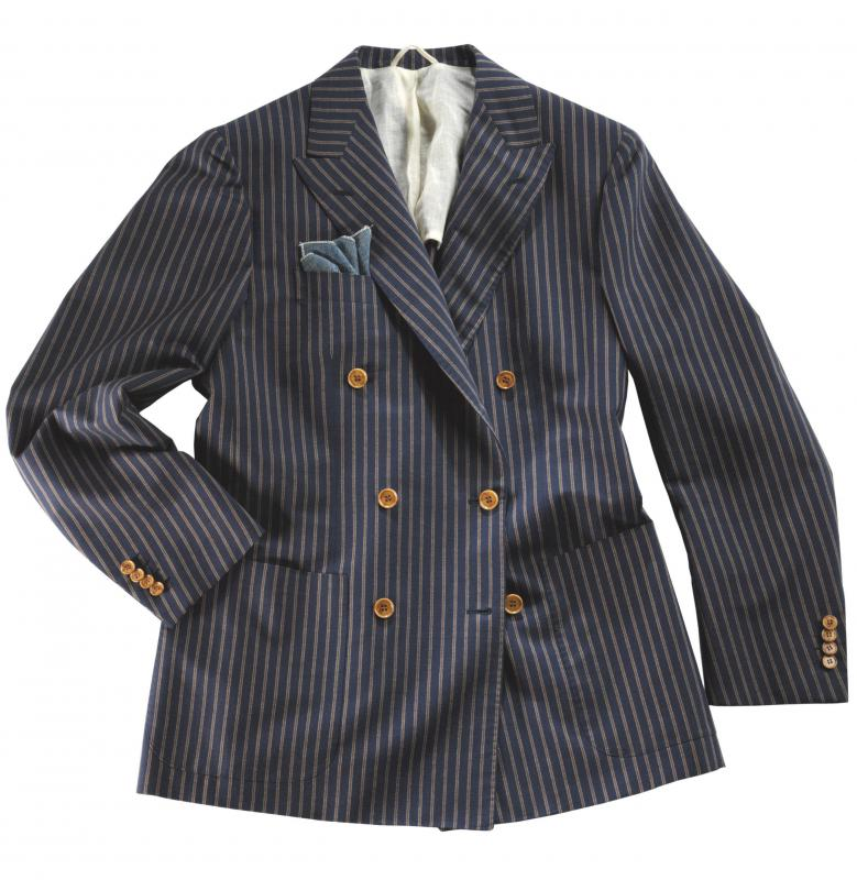 A person wearing a double-breasted jacket usually has the option of buttoning it on either the left or right side.