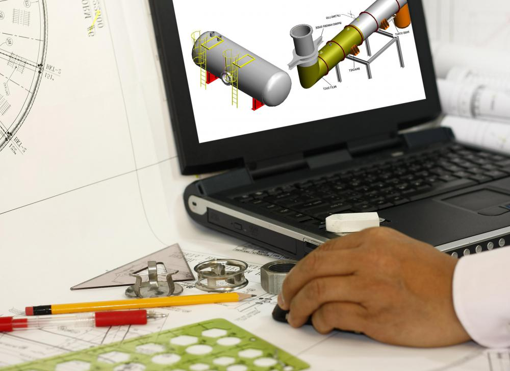 Many types of engineering use computer-assisted design software.