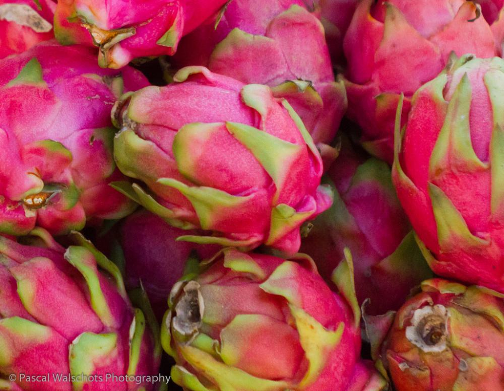 Dragon fruits.