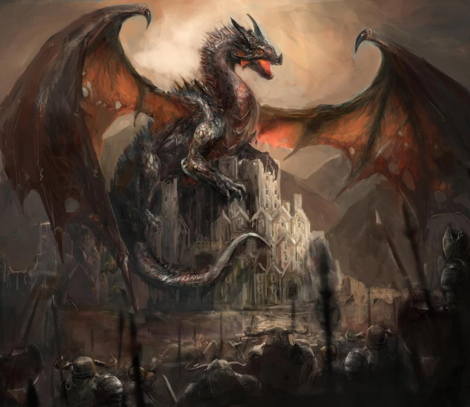Many role-playing games are set in fantasy worlds full of dragons and magic.