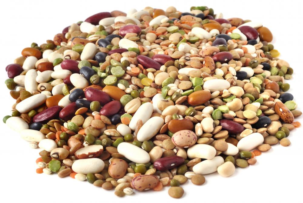 Beans and peas are good sources of folate.