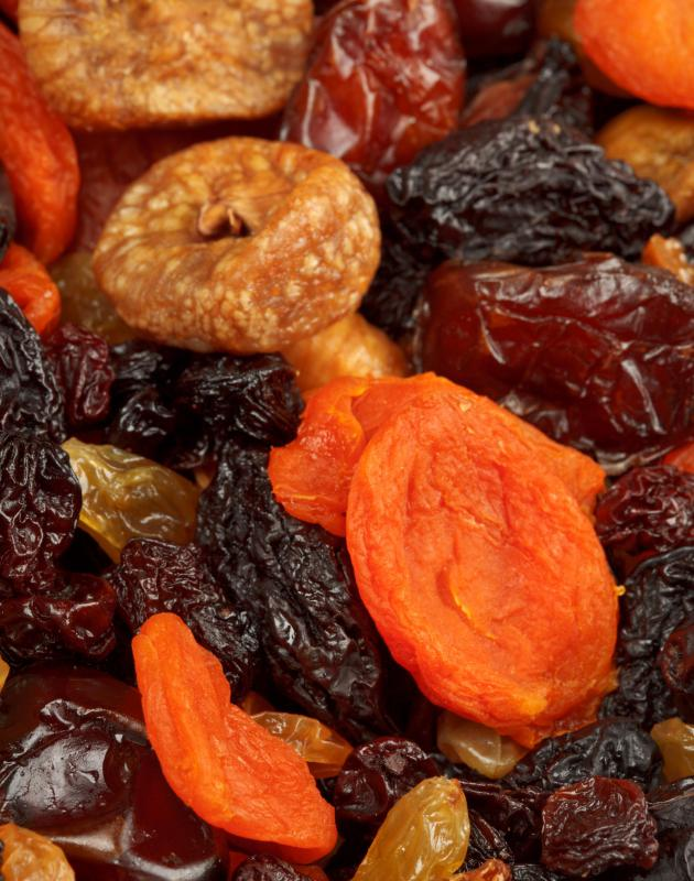 Dried fruit can be a good source of iron.