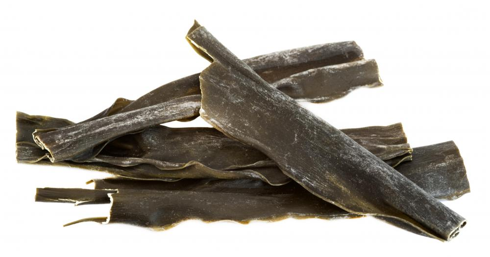 Kombu, which is sometimes used to cure umeboshi plums.