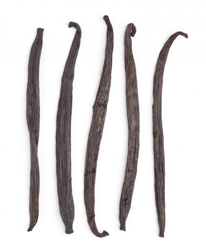Vanilla beans contain aromatic compounds.