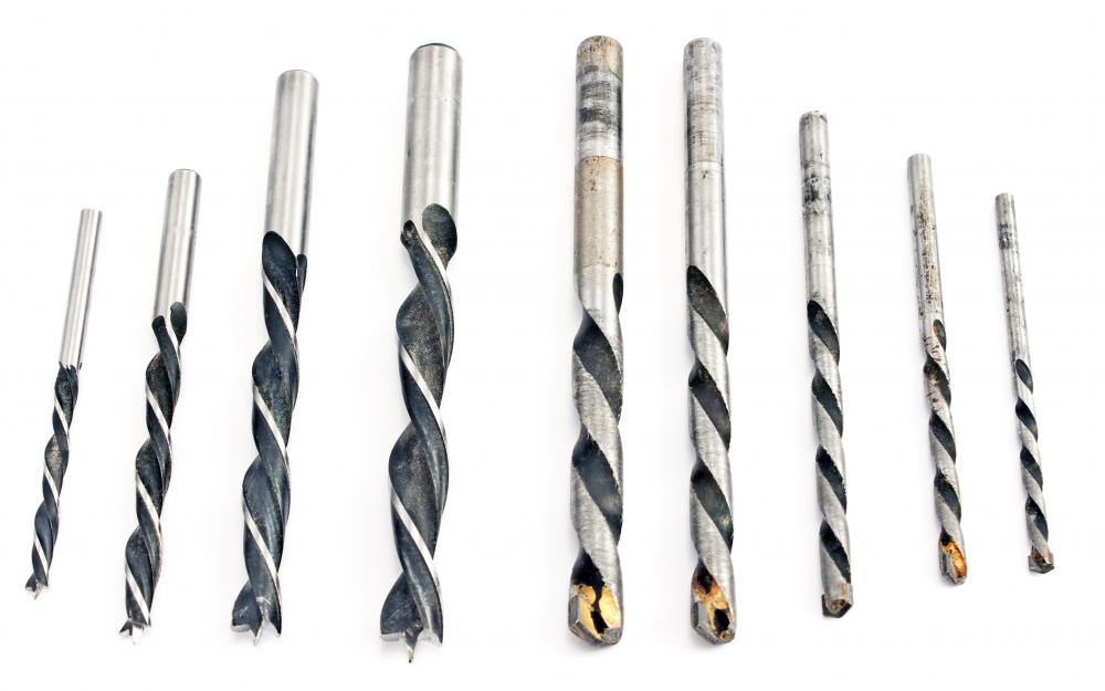 A wide variety of drill bits are available for different uses.