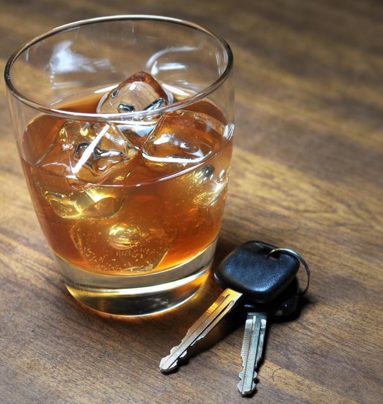 Fatal traffic accidents can occur when people drive after consuming too much alcohol.