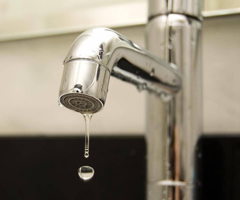Fixing leaky faucets will reduce water consumption.
