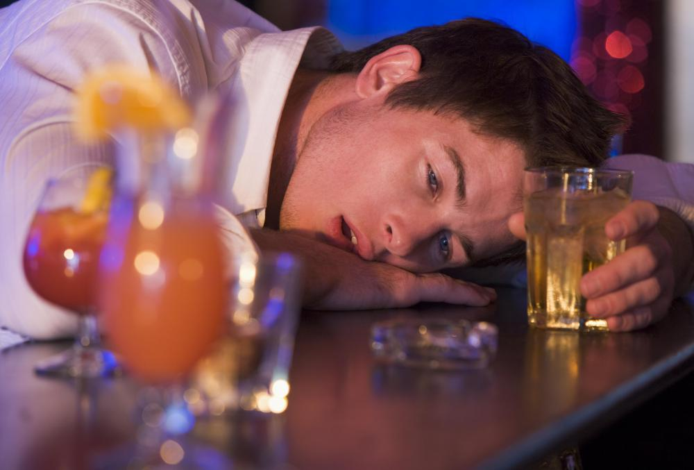 Alcohol can act as a sedative, depending on how much is consumed.