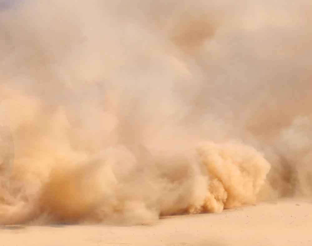 The hot, dry weather of a drought can cause dust storms.