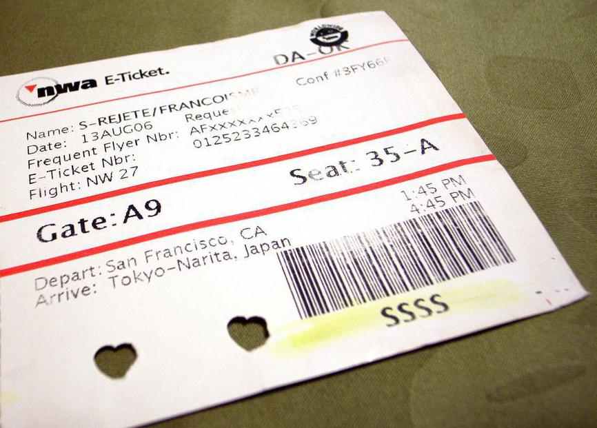 picture of a ticket