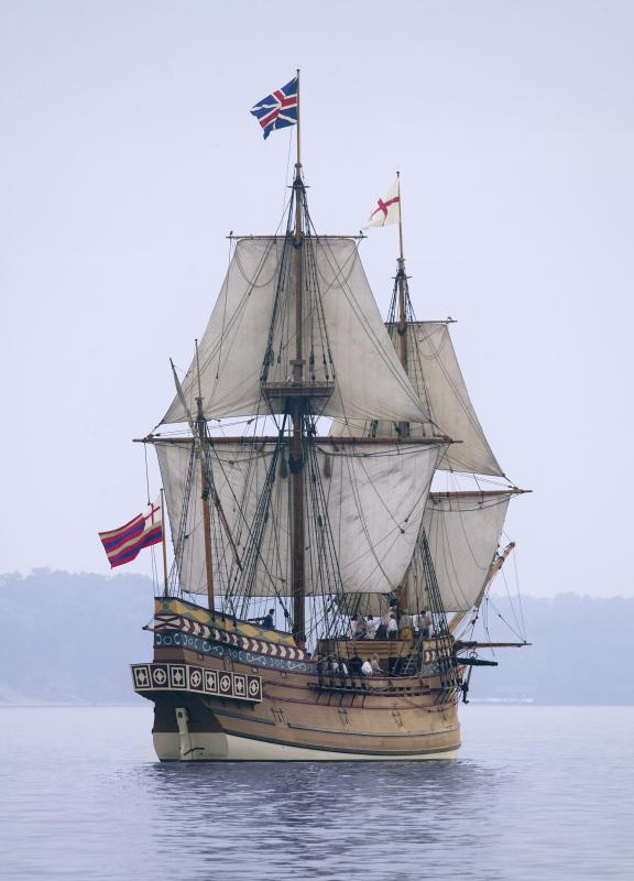 Ships that included the Susan Constant and Discovery were among those that brought the first settlers to the Jamestown colony.